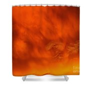 Fiery Clouds Shower Curtain