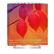 Fiery Colors Shower Curtain