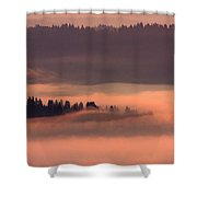 Fiery Flood Shower Curtain