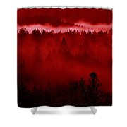 Fiery Forest  Shower Curtain