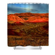 Fiery Painted Hills Shower Curtain