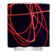 Fiery Red Light Strings Shower Curtain