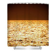 Fiery Sunset Over The Sea Shower Curtain