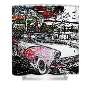 Fifties Drive In Shower Curtain