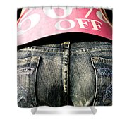 Fifty Percent Off Shower Curtain