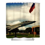 Fighter Jet Panama City Fl Shower Curtain