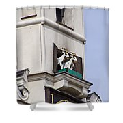 Fighting Goats Of Posnan Poland Shower Curtain