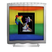 Figments Rainbow Of Colors Shower Curtain