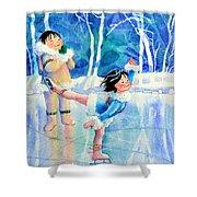 Figure Skater 15 Shower Curtain