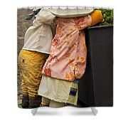 Figurines In Rural Dresses Shower Curtain