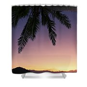 Fiji Sunset Glow Shower Curtain
