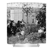 Film: Abraham Lincoln, 1930 Shower Curtain by Granger