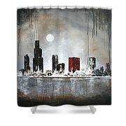 Film Noir Chicago Shower Curtain
