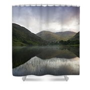 Fin Lough, Delphi Valley, Co Galway Shower Curtain