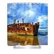 Final Resting Place Shower Curtain by Dominic Piperata