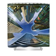 Financial Skyline Shower Curtain