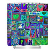 find U'r Love found    v13 Shower Curtain