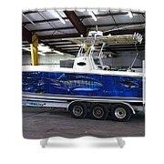 Fine Art Boat Wraps Shower Curtain