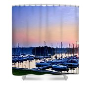 Fine Sailing Morning Coming Up Shower Curtain