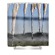 Fingers Of Winter Shower Curtain