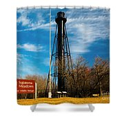 Finns Point Light Shower Curtain