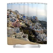 Fira In Santorini Shower Curtain