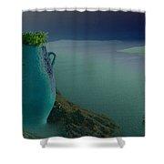 Fira View Santorini Greece Shower Curtain