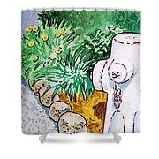 Fire Hydrant Sketchbook Project Down My Street Shower Curtain by Irina Sztukowski