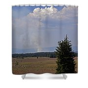 Fire In The Cascades Shower Curtain