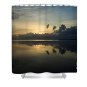 Fire In The Morning Shower Curtain