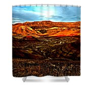 Fire In The Painted Hills Shower Curtain