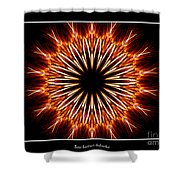 Fire Kaleidoscope Effect Shower Curtain
