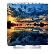 Fire Over Seven Springs Shower Curtain