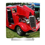 Fire Red Classic Shower Curtain