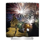 Fire Saints Shower Curtain