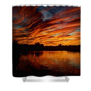 Fire Sky II  Shower Curtain