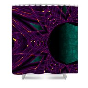 Fire Star - Purple Shower Curtain