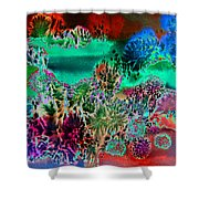 Fire Storm Abstract Shower Curtain