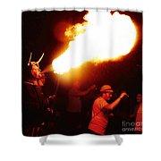 Fire Stroke Shower Curtain