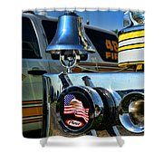 Fire Truck Bell Shower Curtain