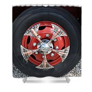 Fire Truck Spinners Shower Curtain