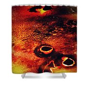 Fire Wall Shower Curtain by Empty Wall