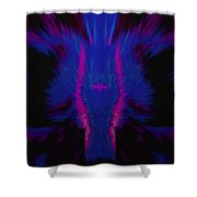 Fire Wolf Abstract Shower Curtain
