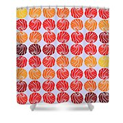 Fireballs Shower Curtain