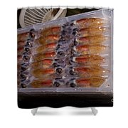 Firefly Squid Processing Shower Curtain