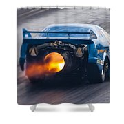 Fireforce Jet Funny Car Shower Curtain