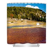 Firehole Lake Shower Curtain