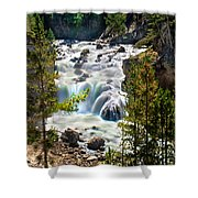 Firehole River Falls Shower Curtain
