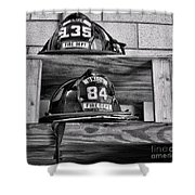 Fireman - Fire Helmets Shower Curtain
