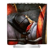 Fireman - Hat - South Plainfield Fire Dept Shower Curtain